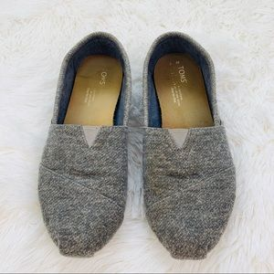 Toms Heathered Gray Slip On Flat Shoes
